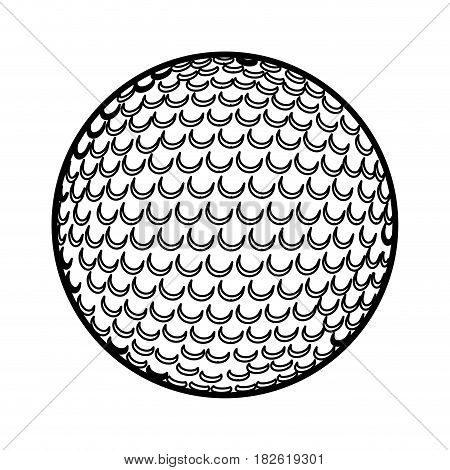 golf ball isolated icon vector illustration design