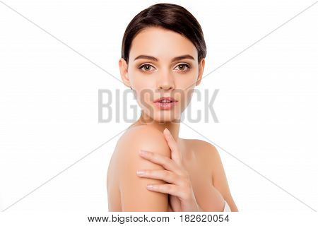 Portrait Of Cute Young Woman .with Ideal Fresh Skin