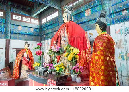Shanxi, China - Sept 15 2015: Statues At Niangzi Pass(niangziguan). Was Famed As