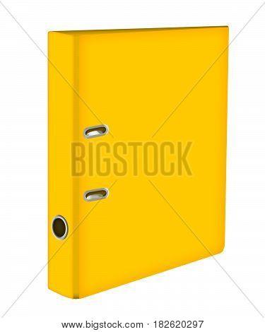 Yellow file Folder. ring binders . icon with yellow folder