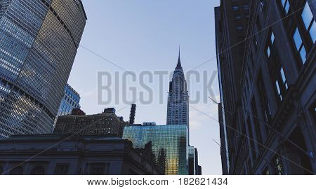 The Chrysler Building (manhattan, New York) At Dusk