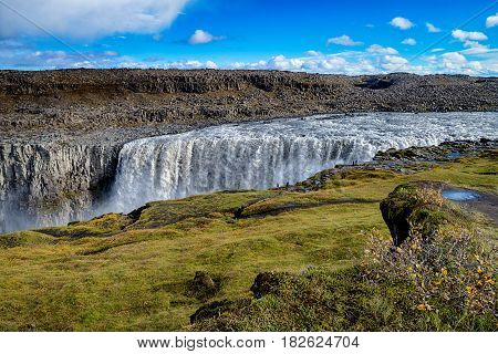 Famous and great Dettifoss waterfall in Iceland, Europe