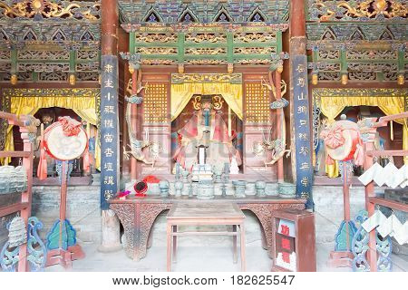 Shanxi, China - Sept 05 2015: Statues At Jingsheng Confucian Temple. A Famous Historic Site In Lings