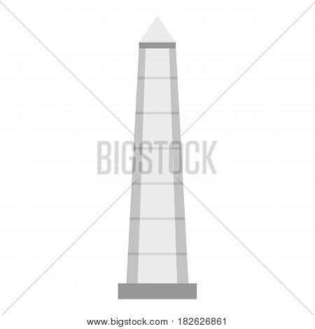 The Obelisk of Buenos Aires icon flat isolated on white background vector illustration