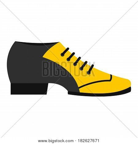 Male tango shoe icon flat isolated on white background vector illustration