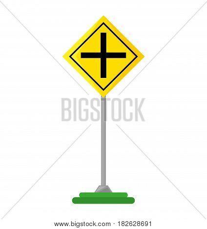 intersection road traffic signal vector illustration design