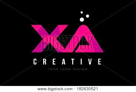 Xa X A Letter Logo With Purple Low Poly Pink Triangles Concept