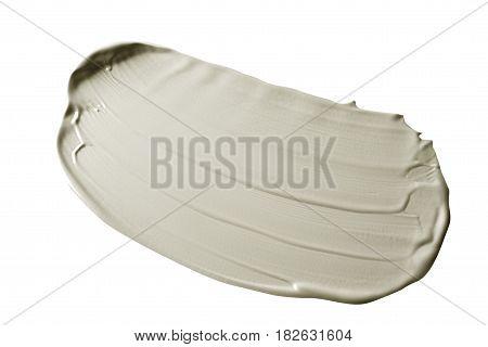 Smear cream isolated on white background. Cream texture.