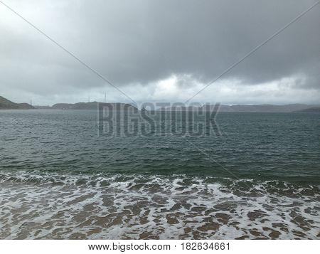 the Barents Sea. Teriberka, Murmansk region, Russia.