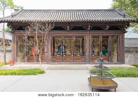 Sichuan, China - Mar 28 2015: Confucius Temple Of Zhaohua Ancient Town. A Famous Historic Site In Gu