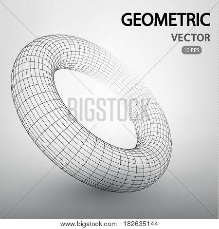 Geometric Figures Built By A Grid.