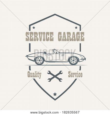 Car service labels logo and design elements - vector illustration