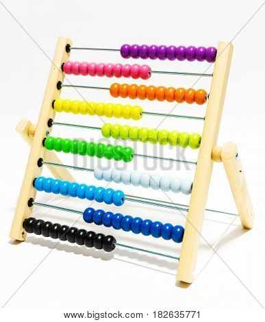 Abacus Kid Toy Isolated On White