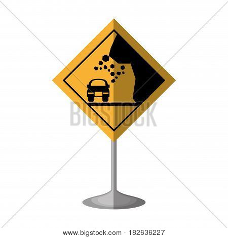 High risk of collapse vector illustration design