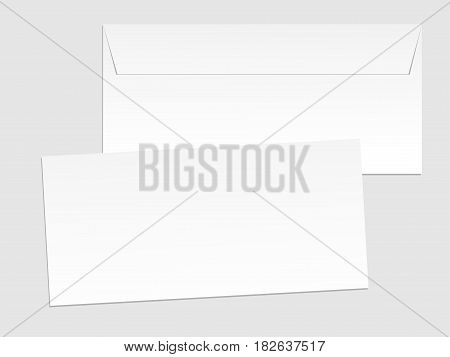 Blank paper envelopes for your design. Vector envelopes template