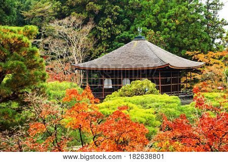 Ginkakuji Temple With Autumn Colors, Kyoto