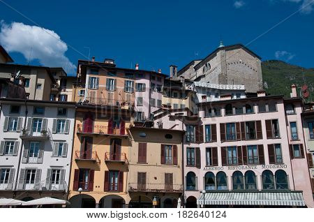 16 april 2017-lovere-italy-historic buildings in the city of lovere