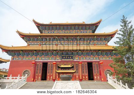 Inner Mongolia, China - Aug 13 2015: Guanyin Temple. A Famous Historic Site In Hohhot, Inner Mongoli