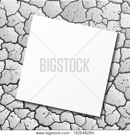 Abstract gray cracks background with grunge blots