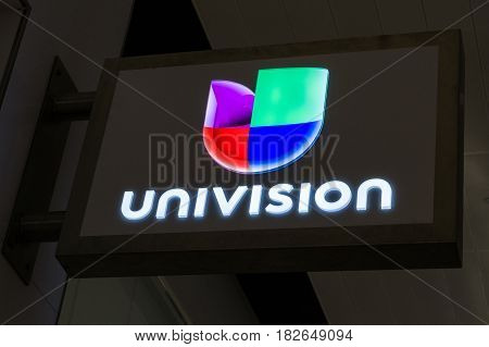 Univision Sign And Logo