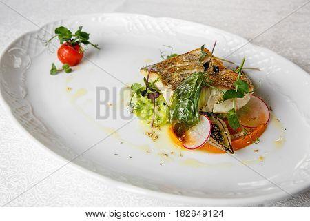 Fish Dish - Fried Fish Fillet Of Zander