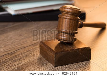 Photography of judge wooden hammer