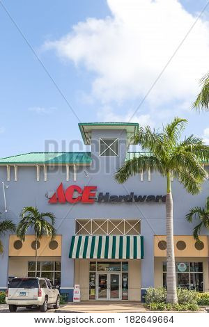 Ace Hardware Retail Store And Logo.
