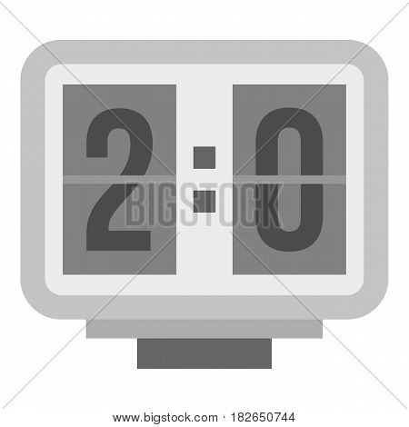 Electronic soccer scoreboard icon flat isolated on white background vector illustration