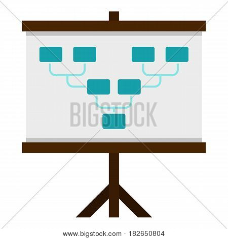 Board with team formation icon flat isolated on white background vector illustration