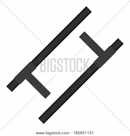 Tonfa, traditional asian weapon icon flat isolated on white background vector illustration