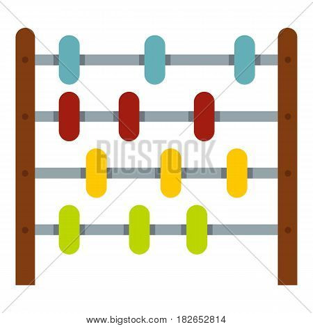 Children abacus icon flat isolated on white background vector illustration