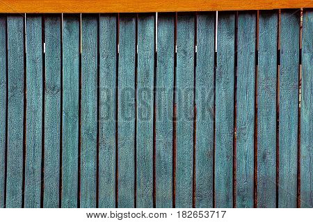 the green texture of old pine boards fence