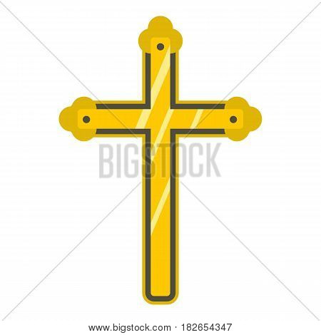 Holy cross icon flat isolated on white background vector illustration