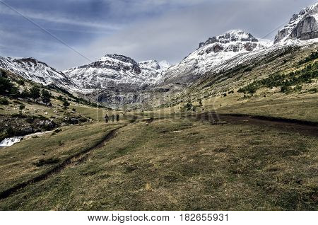 Valley of Aisa - ravine of Igüer, Huesca Pyrenees.