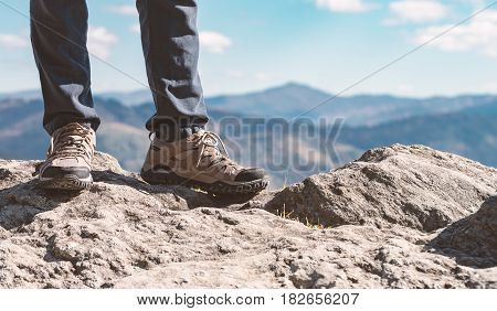 Man Standing On The Mountains