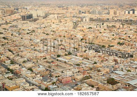 Aerial view of Riyadh downtown