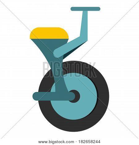 Blue unicycle icon flat isolated on white background vector illustration