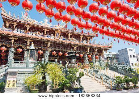 Fujian, China - Dec 28 2015: Yuanmiaoguan Taoist Temple. A Famous Historic Site In Quanzhou, Fujian,