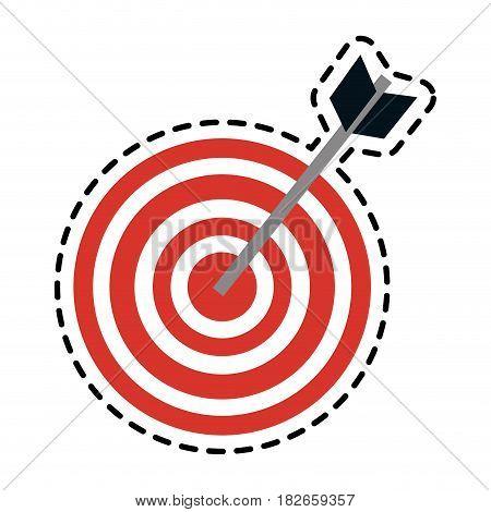 bullseye or target icon image vector illustration design