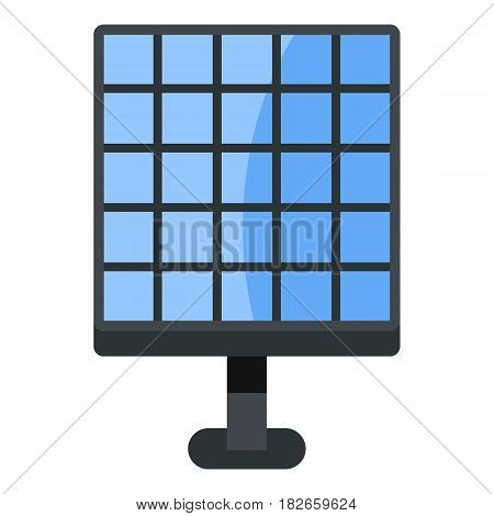 Electric solar panel, new technology of energy production icon flat isolated on white background vector illustration