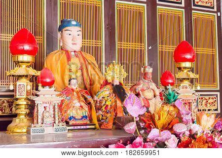 Fujian, China - Dec 31 2015: The Yanping Wang Temple. A Famous Historic Site In Quanzhou, Fujian, Ch