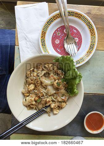 Pad See Ew Thai Dish