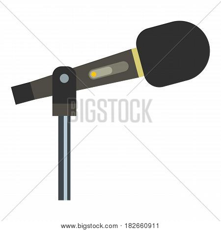 Sound recording equipment icon flat isolated on white background vector illustration