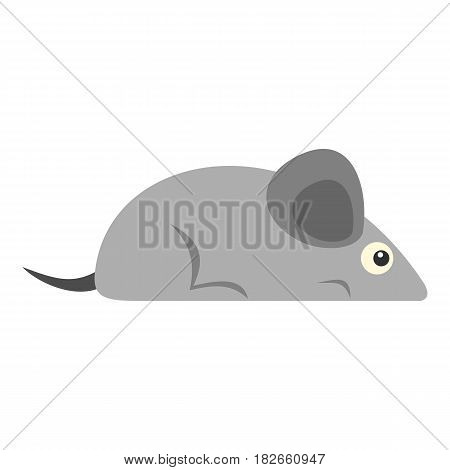Gray mouse icon flat isolated on white background vector illustration