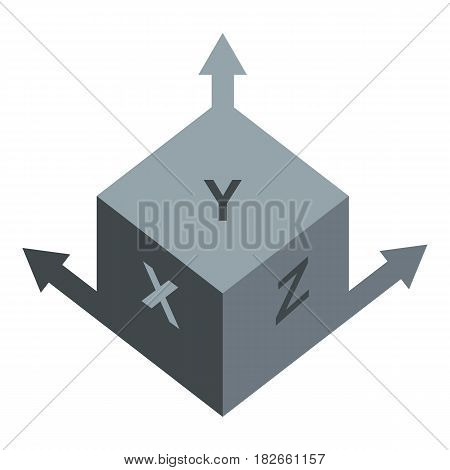Area or size dimension icon flat isolated on white background vector illustration