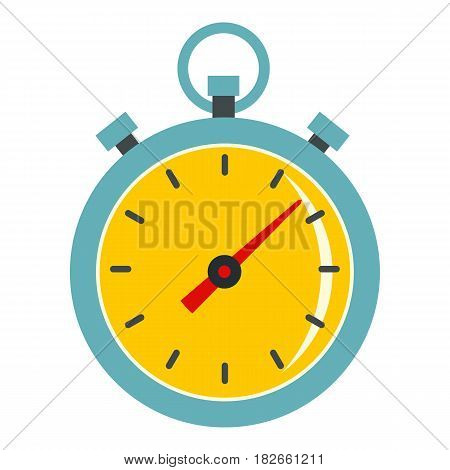 Chronometer icon flat isolated on white background vector illustration