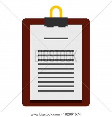 Medical order clipboard icon flat isolated on white background vector illustration