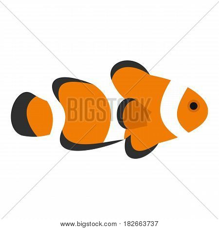 Fish clown icon flat isolated on white background vector illustration