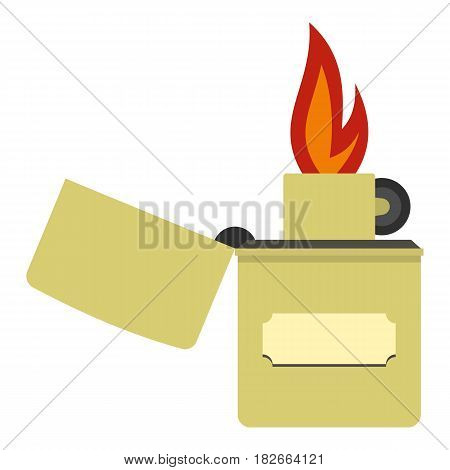 Lighter icon flat isolated on white background vector illustration