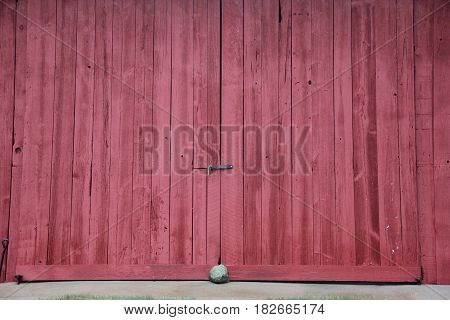 A red barn door at Sleeping Bear Dunes National Lakeshore, MI